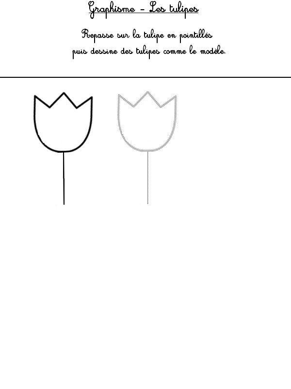 Graphisme: dessine des tulipes