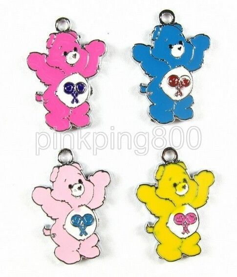 3510pcs Brown bear charms craft supplies moveable enamel charms