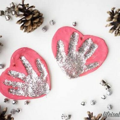 Salt Dough Handprint Ornament | Recipe in 2020 | Handprint ...