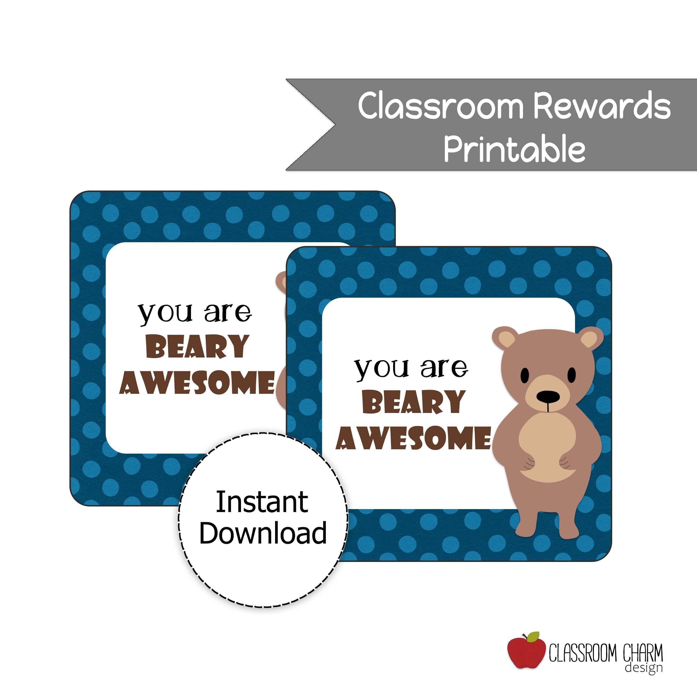 Student reward printable in 2020 student rewards