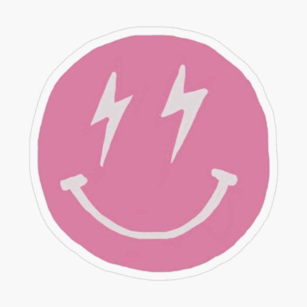 pink smiley Sticker