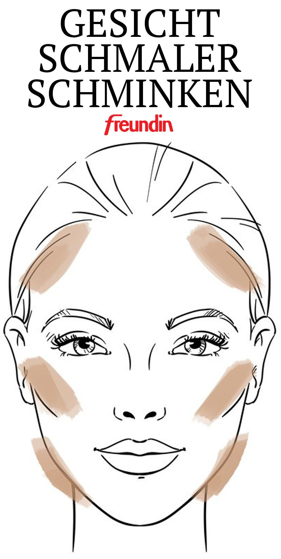 Wie schminke ich mein Gesicht schmaler? | freundin.de #contouringmakeup