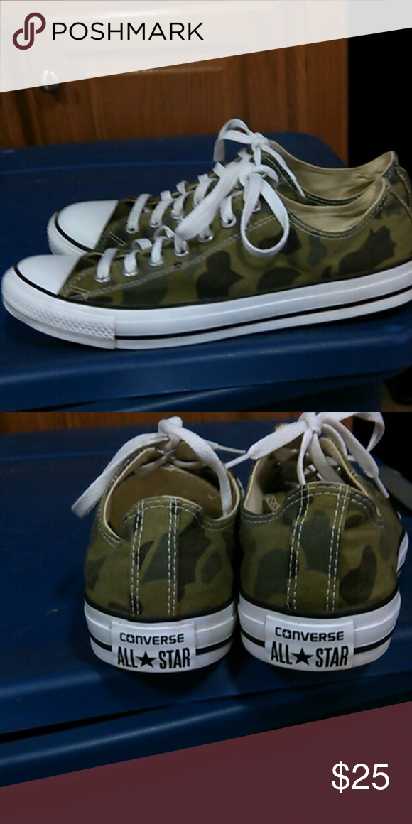Camo converse Men s size 10 women s size 12 great condition Converse Shoes  Sneakers 77a99c84db