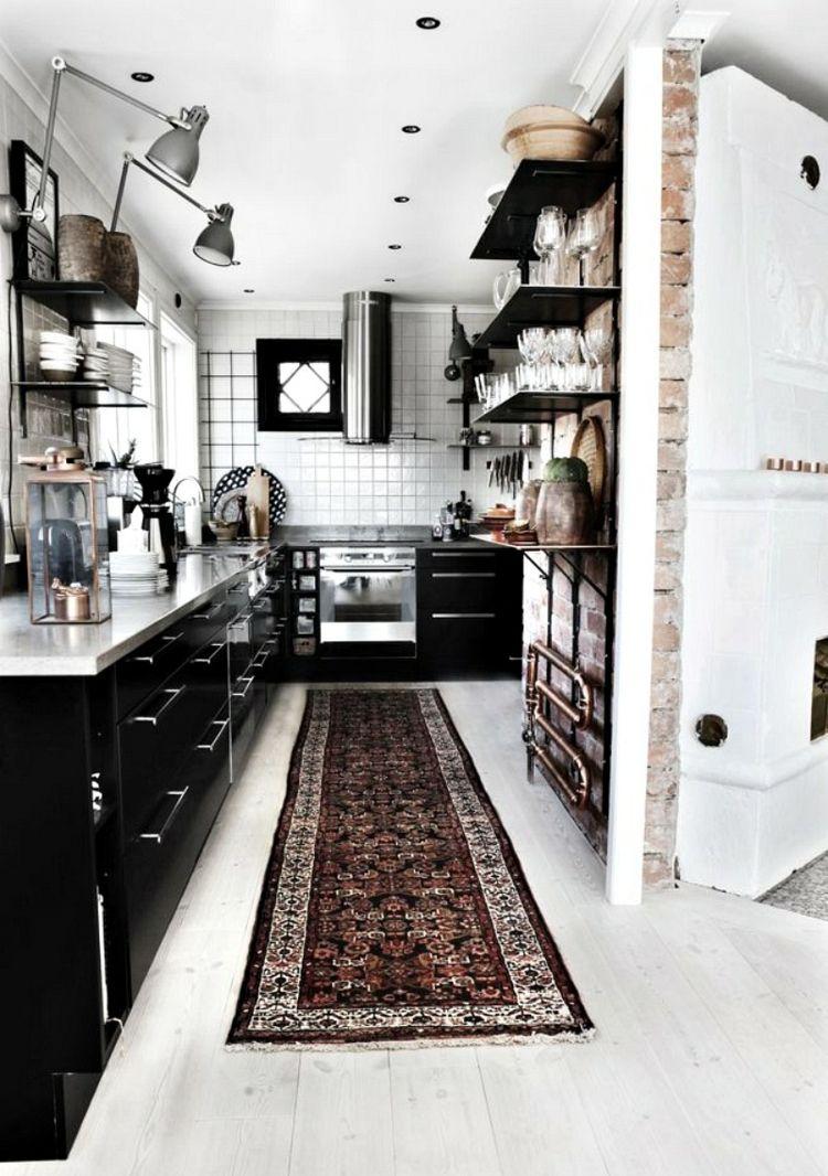Zimmer im mexikanischen stil helle moderne küche im industiellen stil  einrichtung  küche in