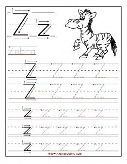 Printable letter Z tracing worksheets for preschool | Arbeitsblätter ...