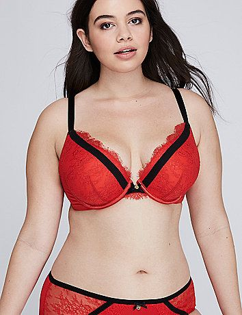 0b4c95f6a8 That spicy color. That eyelash lace. This plunge bra has Valentine s Day  (and every day after) written all over it.  br     br     strong Coverage    Lining  ...