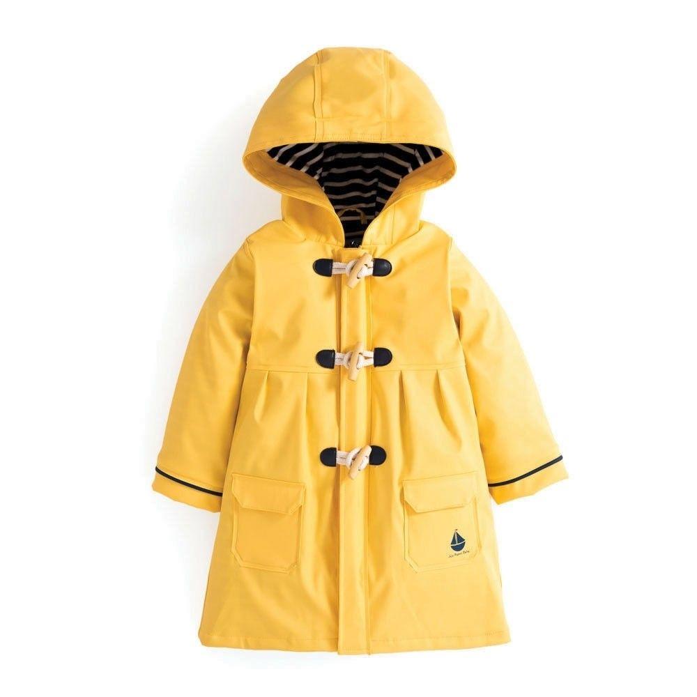 Girls Yellow Pretty Waterproof Rain Coat Cute Rain Jacket Kids Rain Jackets Toddler Coat