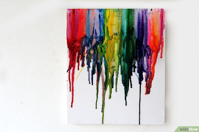 Peindre Au Crayon De Cire Fondu Crayons De Cire Crayons Fondus