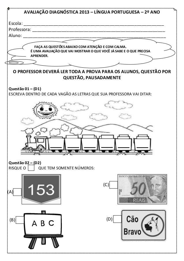 Avaliacao Diagnostica 2013 Lingua Portuguesa 2º Anoescola