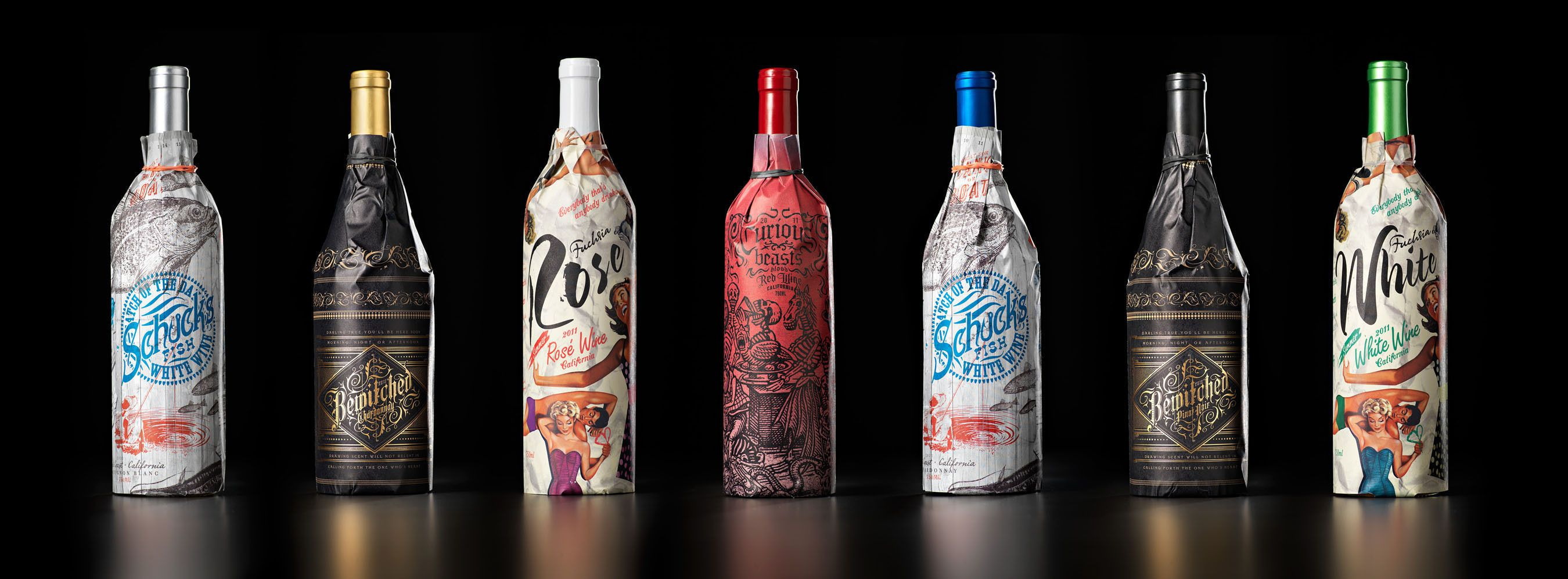 Evocative Wrapped Wine Bottles. Bottles We Admire.