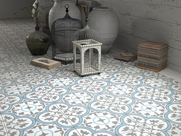 Vintage by palazzo zementfliese aliso blue in 2019 floor for Badezimmer fliesen 20x20