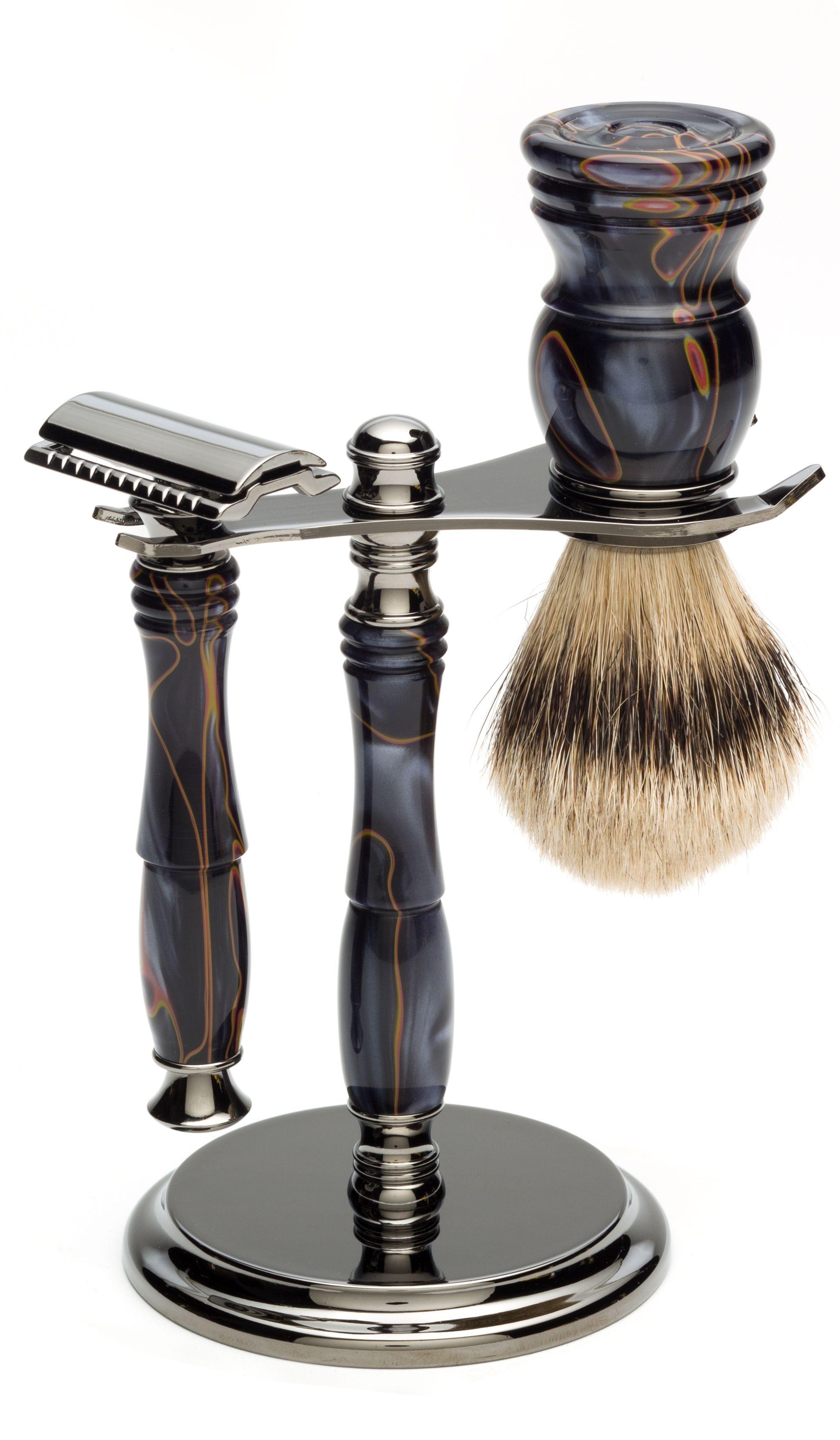 Turn a shaving kit today! #woodturning #shaving | Wood turning ideas