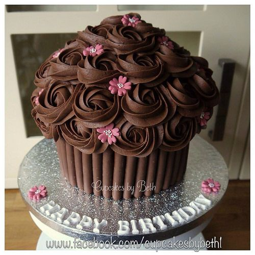 Chocolate Giant Cupcake With Images Chocolate Giant Cupcake