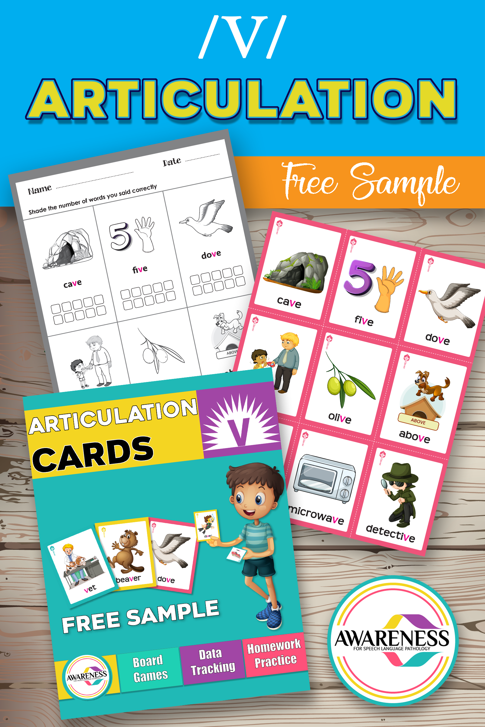 Free Sample V Sound Articulation Cards And Games