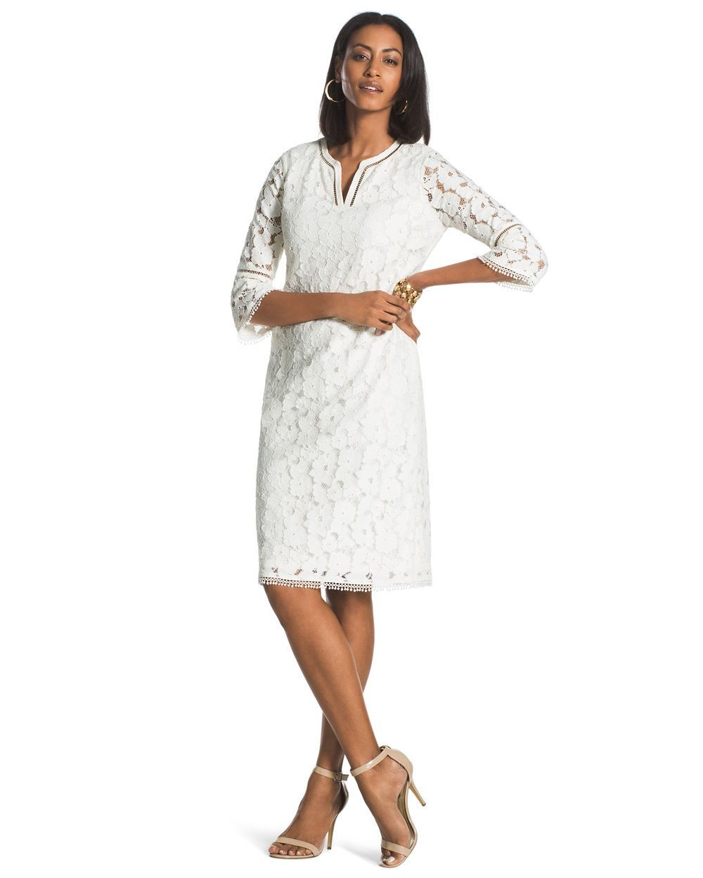 Lace dress cover up  Chicous Womenus Floral Lace Dress  Products  Pinterest  Lace