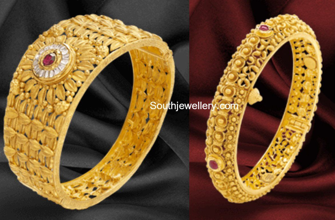 d5b5187b4e3f8 Gold Bangle Designs by Khazana Jewellery photo | Bangels | Gold ...