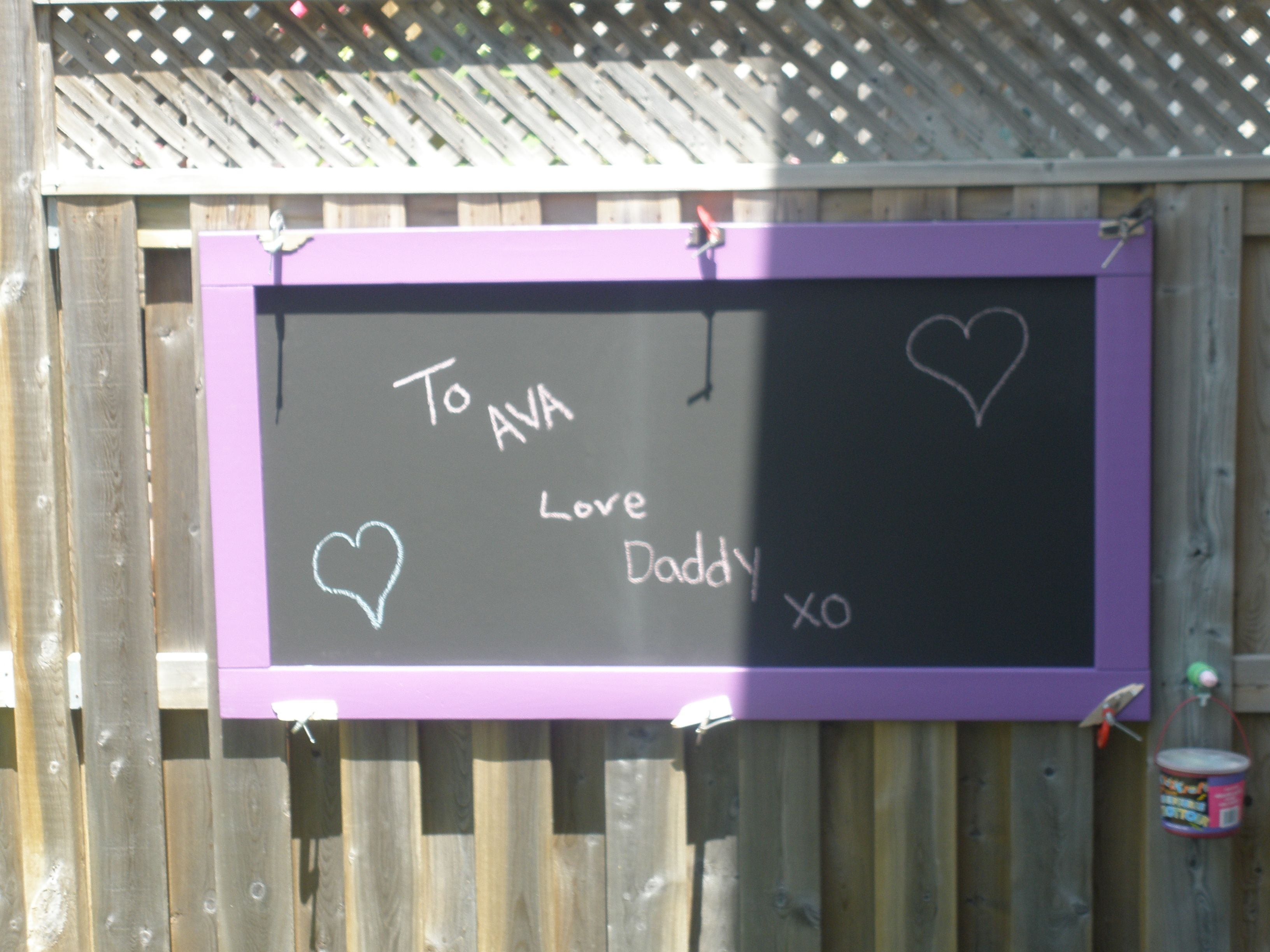 Outdoor Chalkboard Do Not Use Paint Flat Black