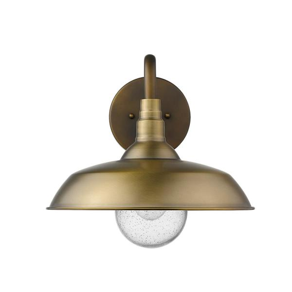 Acclaim Lighting Burry 1 Light Antique Brass Outdoor Wall Sconce 1742atb The Home Depot In 2020 Outdoor Wall Sconce Acclaim Lighting Outdoor Walls