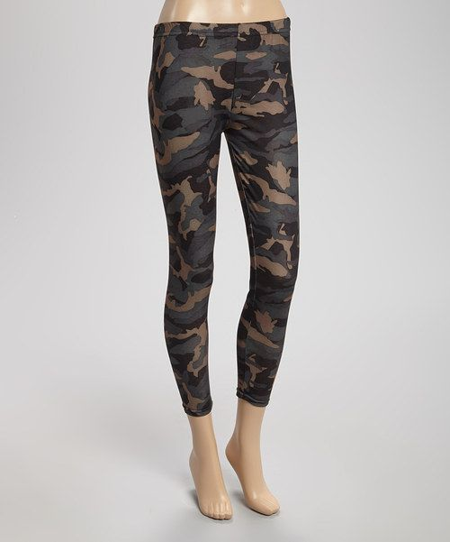 Take a look at the Capelli New York Green True Camo Jersey Leggings - Women on #zulily today!