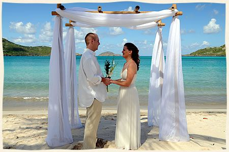 beach wedding bamboo arch - we could make you one of these and ...