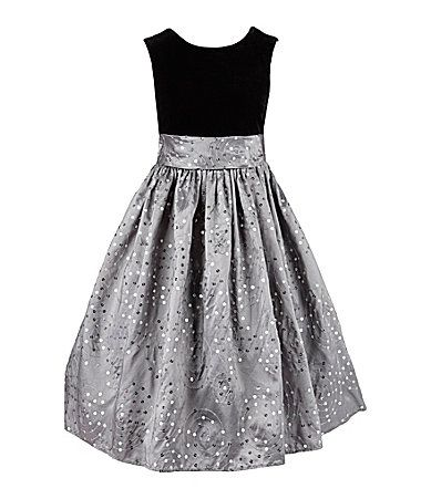 a42a7124599 American Princess 716 and Plus Size Velvet Top and Sequin Skirt Dress   Dillards