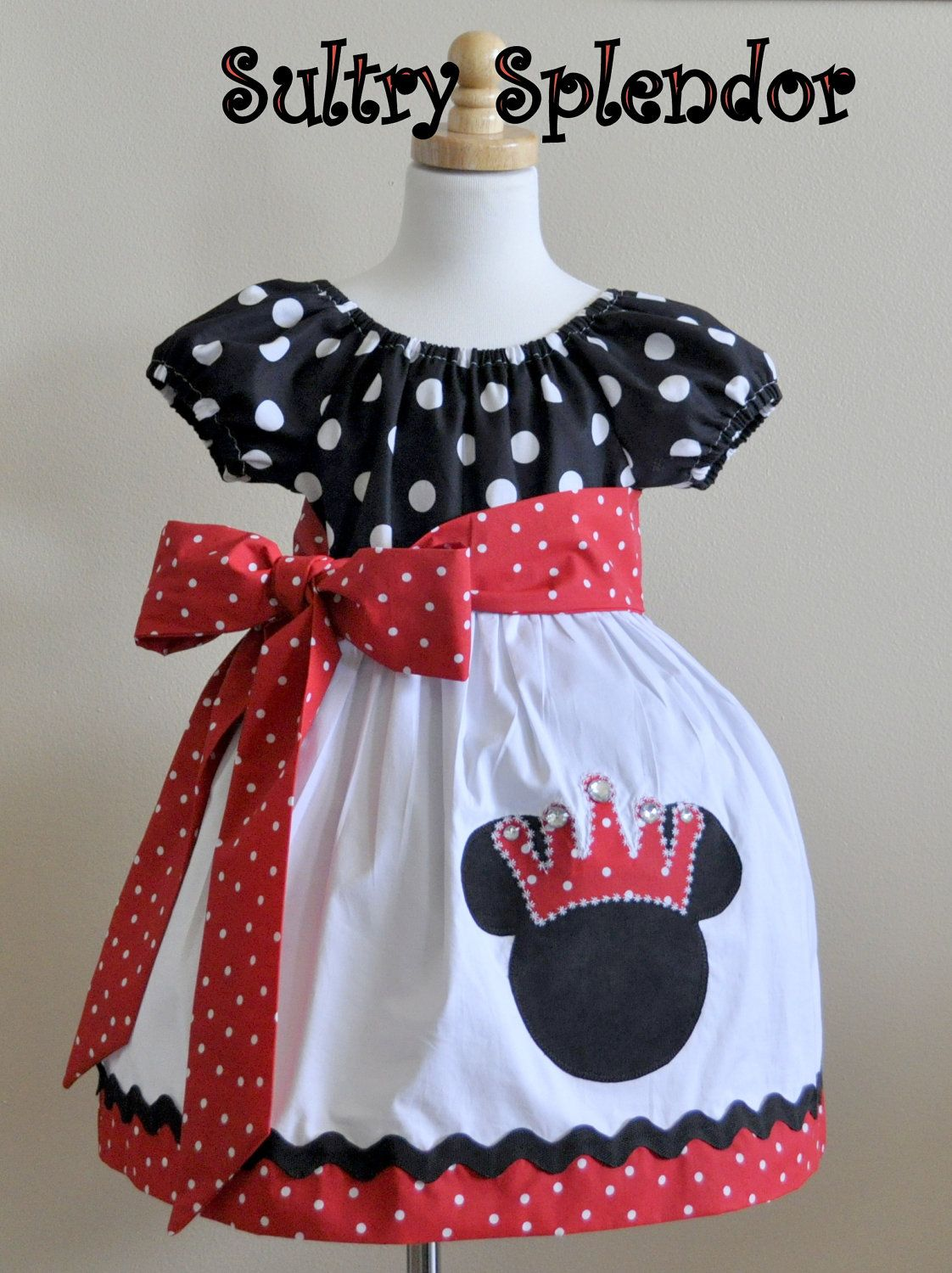 Black White  Red Polka Dots Minnie Mouse by sultrysplendor, $3999 - Minnie Mouse Halloween Decorations