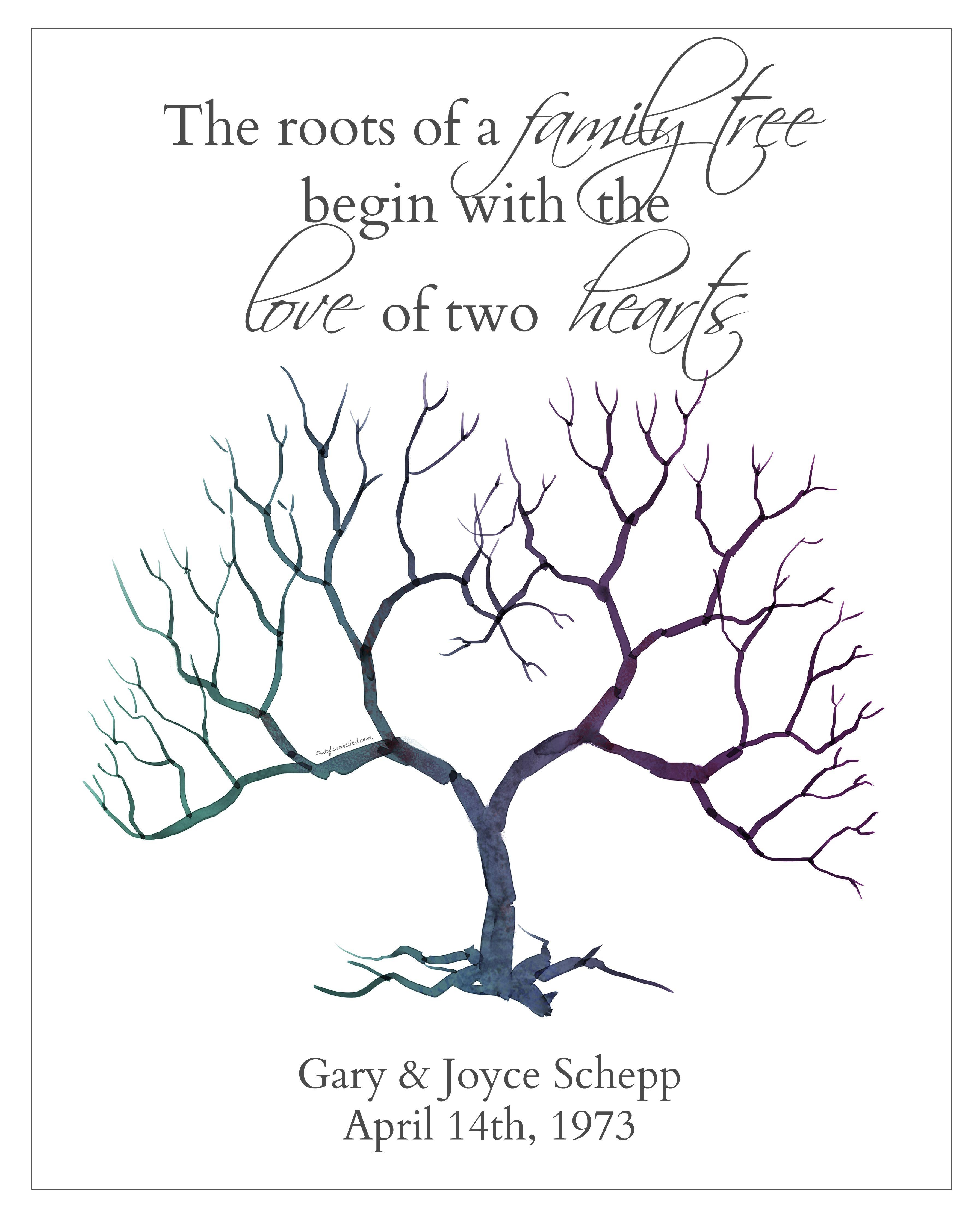 Wedding Thumbprint Tree! | CrEaTiViTy! | Thumbprint tree ...