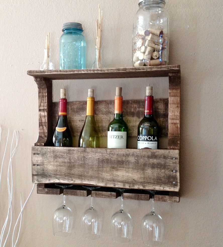 small 4 bottle reclaimed wood wine rack with shelf wood wine racks wine rack and shelves. Black Bedroom Furniture Sets. Home Design Ideas