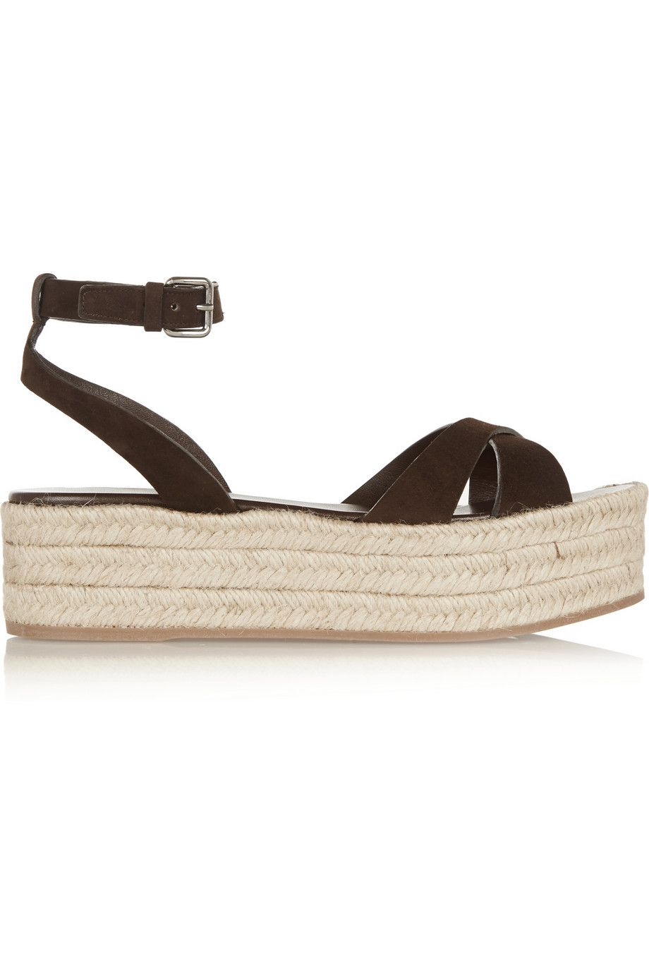 7087c93a7744 MIU MIU Suede Espadrille Platform Sandals.  miumiu  shoes  sandals ...