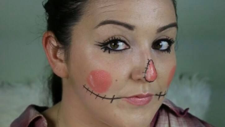 ad want a fun scarecrow halloween makeup tutorial thats easy to recreate makeup