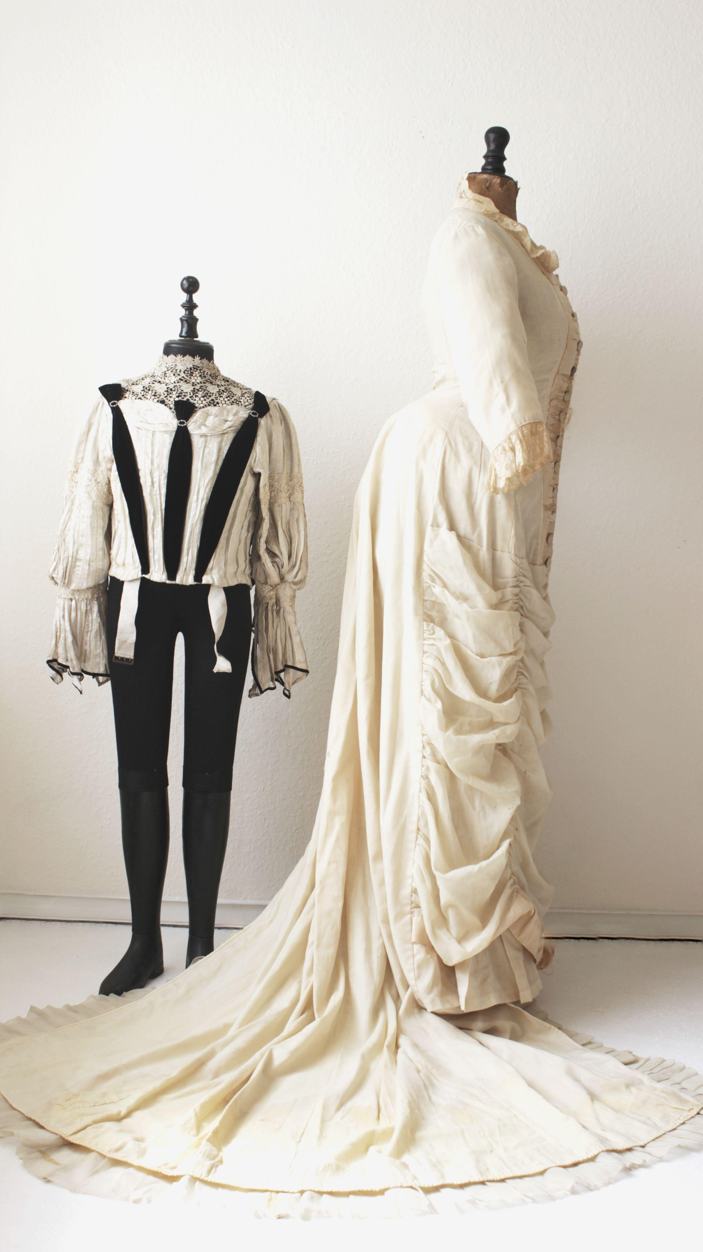 antique #victorian bustle gown #dress. #1870s | Victorian White ...