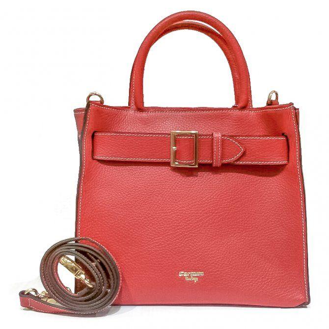 11f04a695 Bolsa de couro Eloá Carmim rubi - Carmim Store - R$ 450,00 | Style ...