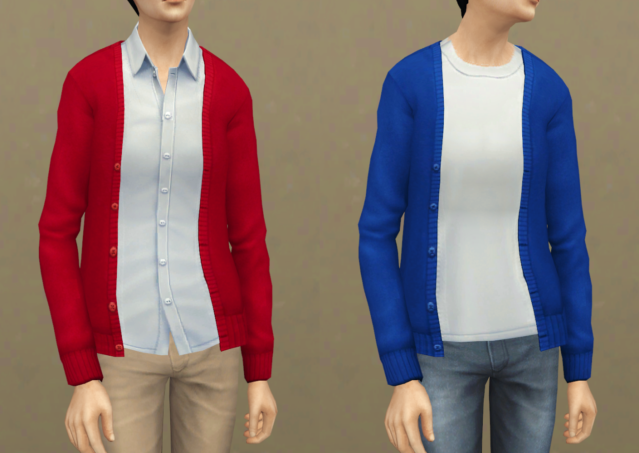 Sims 4 mods traits downloads 187 sims 4 updates 187 page 58 of 100 - Sims4 Cardigan Tops Set Ea Mesh Edit Teen Elder Male 6color 2type Base Game Compatible Download Zip File Here Ts4 Cc Pinterest