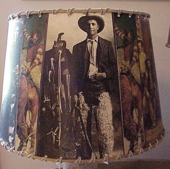 Cowboy lamp shade vintage iamges western decor by shadyplace for cowboy lamp shade vintage iamges western decor by shadyplace mozeypictures Gallery