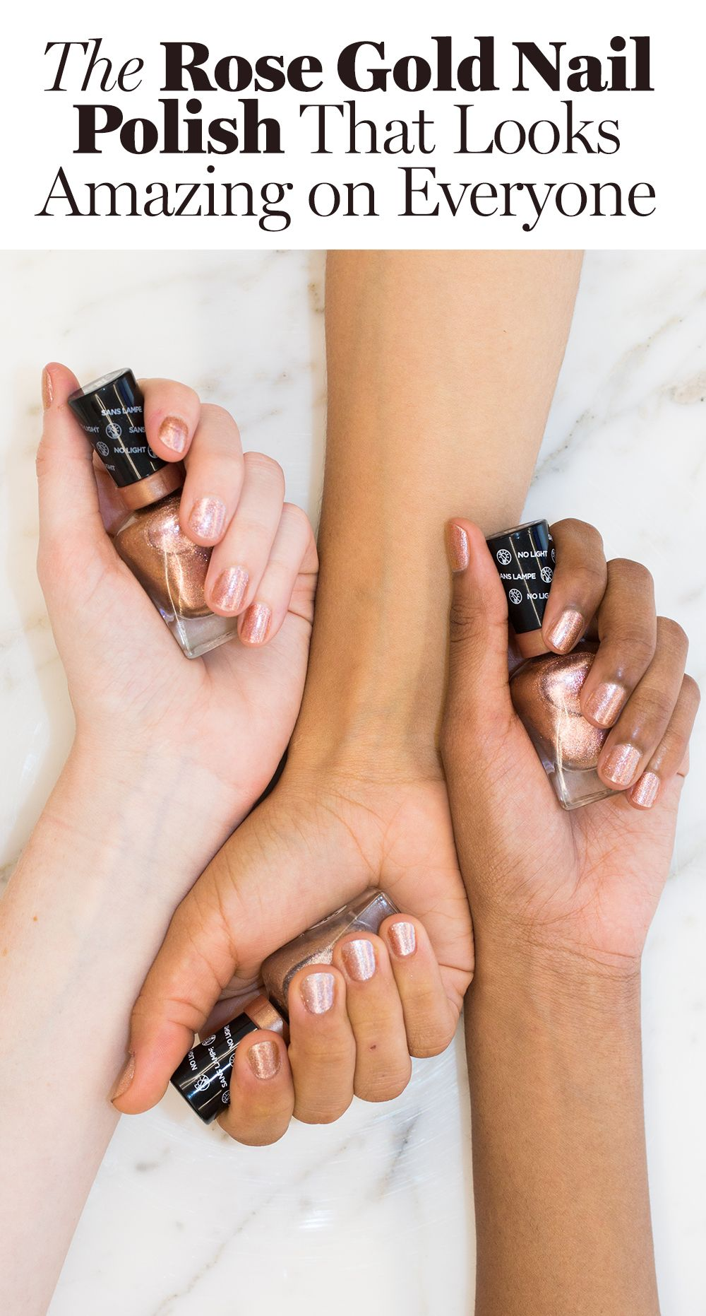 1 Bottle Of This Drugstore Rose Gold Nail Polish Sells Every