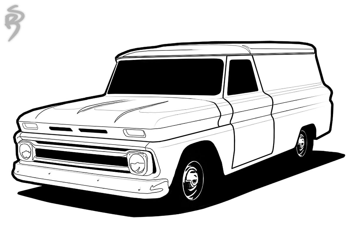 Classic Truck Coloring Pages Galleryhipcom The Sketch