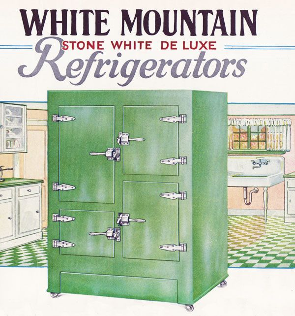 1920s white mountain refrigerators 1920s white mountain refrigerators   retro vintage antique old      rh   pinterest com