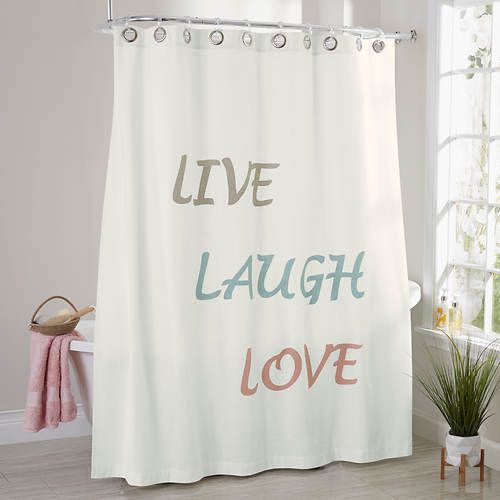 Add A Splash Of Lighthearted Inspiration To Your Bathroom Decor ShowerCurtain LiveLaughLove Stoneberry