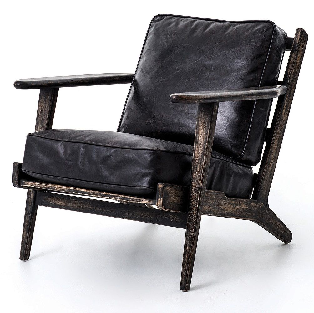 Mid Century Modern Brooks Leather Lounge Chair Leather Lounge Chair Leather Lounge Leather Chair