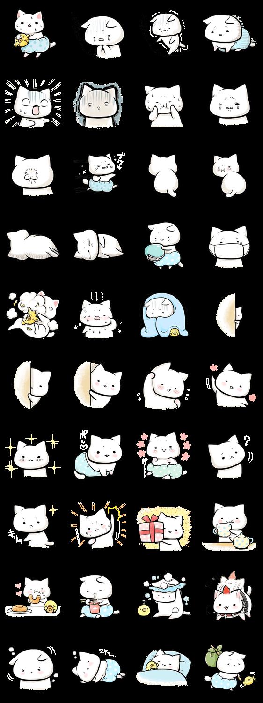 Negative cat(syobonyan) – LINE stickers | LINE STORE