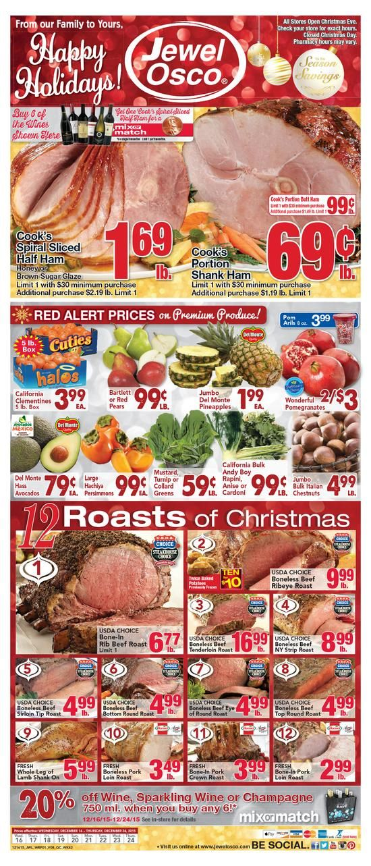 jewel osco weekly ad december 16 24 2017 http www olcatalog