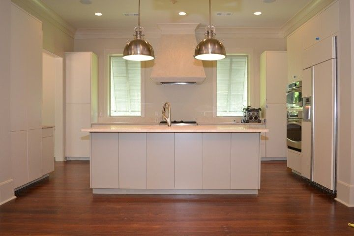 This Euro Style Kitchen Made Out Of Painted Maple Has Slab Front Drawers And Cabine Custom Kitchen Cabinets Design Kitchen Cabinet Sizes Kitchen Cabinet Styles