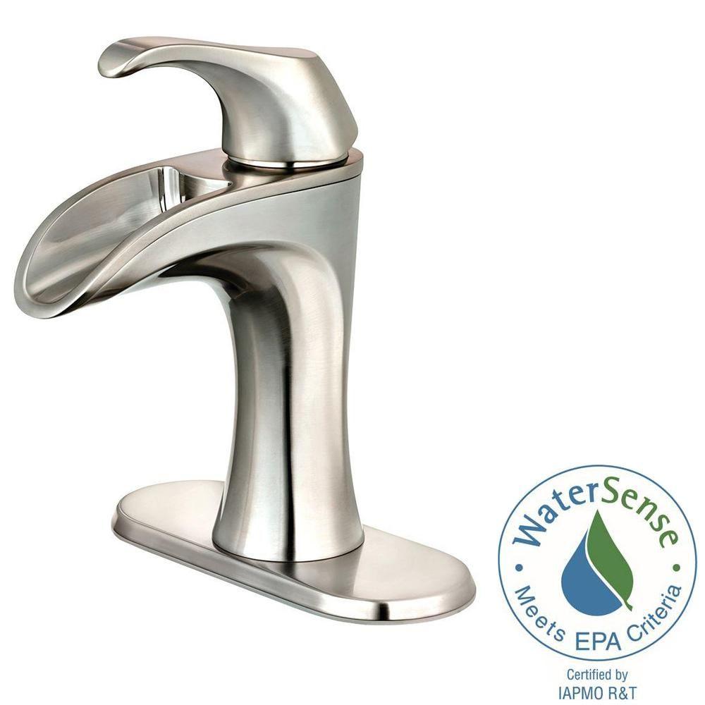 Merveilleux Centerset Single Handle Bathroom Faucet In Brushed Nickel LF 042 BRKK   The  Home Depot
