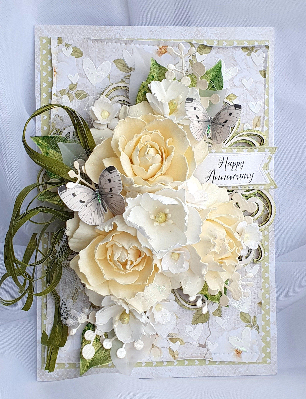 Congratulations wedding card elegant anniversary gift