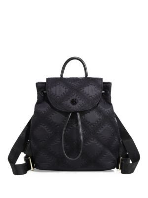 6d3d1e8ca462 TORY BURCH Flame-Quilt Mini Backpack.  toryburch  bags  nylon  backpacks