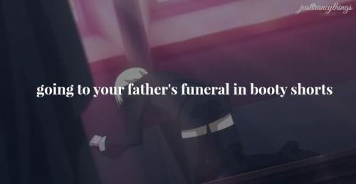 Going to your father's funeral in booty shorts. ~ Just Trancy Things :: Alois Trancy // Black Butler