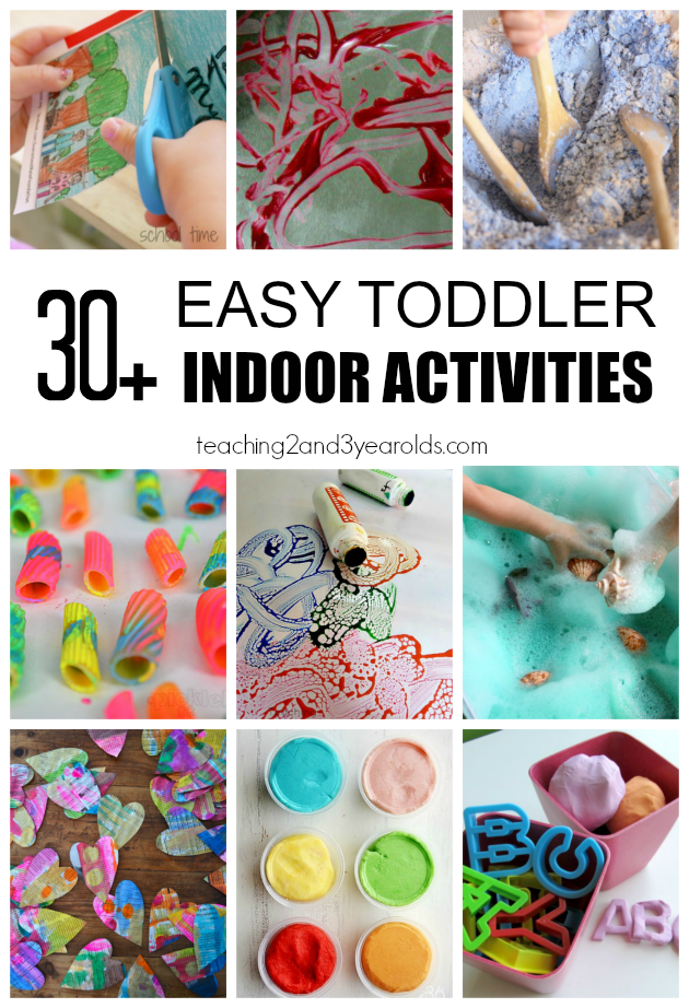 30 Toddler Indoor Activities Printable List Included