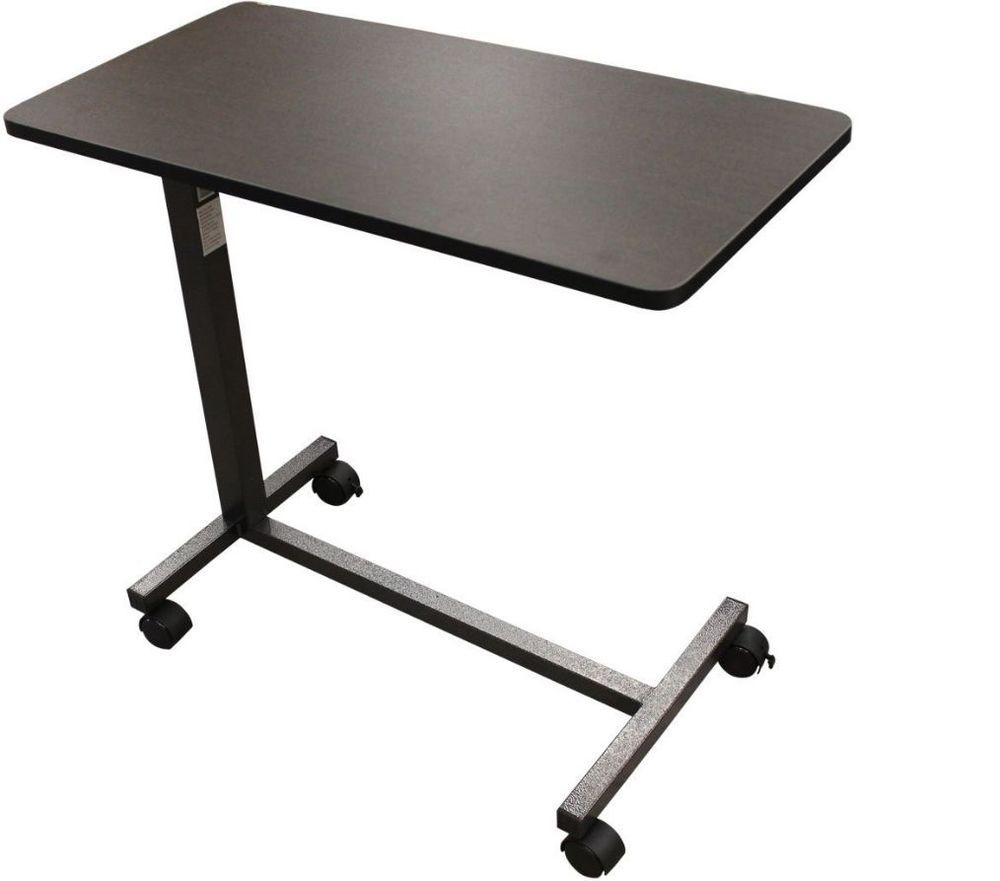 Rolling bed tray table - Details About Overbed Rolling Table Drive Medical Over Bed Laptop Tray Adjustable Hospital New