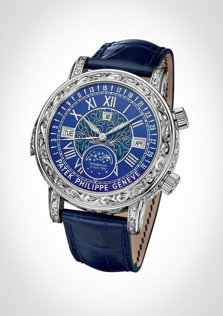 8819dfec4f0 Patek Philippe Grand Complications Celestial Sky Moon Tourbillon White Gold  Men s Watch 6002