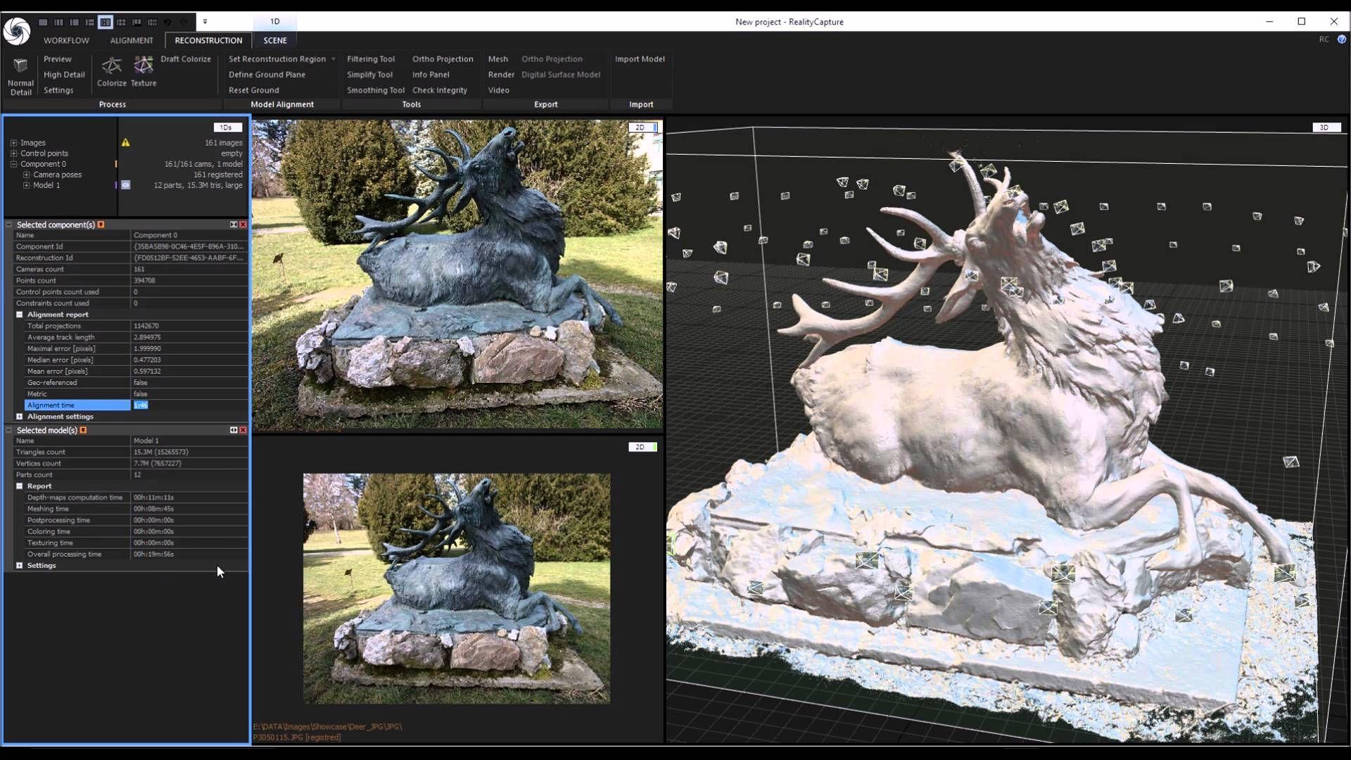 RealityCapture: Making a 3D model from photos - Deer   3d model, Photo, Deer